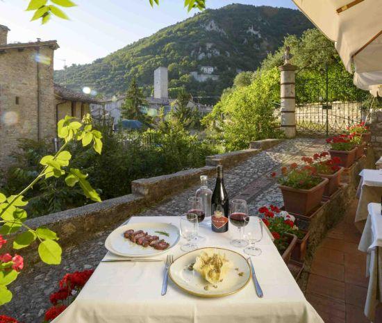 ristorante il bargello Gubbio vista esterno